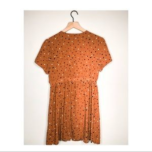 Lush Dresses - Lush  Camel Colored Dress w/ cinched waist